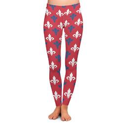 Patriotic Fleur de Lis Ladies Leggings (Personalized)