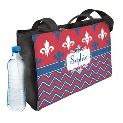 Patriotic Fleur de Lis Ladies Workout Bag (Personalized)
