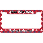 Patriotic Fleur de Lis License Plate Frame (Personalized)