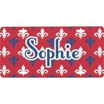 Patriotic Fleur de Lis Front License Plate (Personalized)