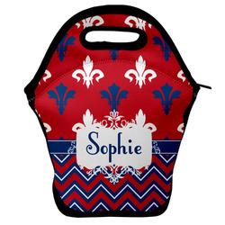 Patriotic Fleur de Lis Lunch Bag (Personalized)