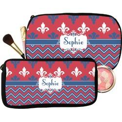 Patriotic Fleur de Lis Makeup / Cosmetic Bag (Personalized)
