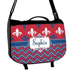 Patriotic Fleur de Lis Messenger Bag (Personalized)