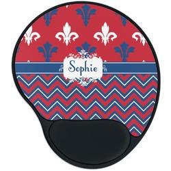 Patriotic Fleur de Lis Mouse Pad with Wrist Support