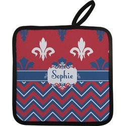 Patriotic Fleur de Lis Pot Holder (Personalized)