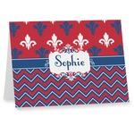 Patriotic Fleur de Lis Note cards (Personalized)