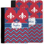 Patriotic Fleur de Lis Notebook Padfolio w/ Name or Text