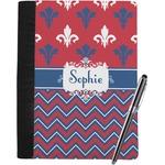 Patriotic Fleur de Lis Notebook Padfolio (Personalized)