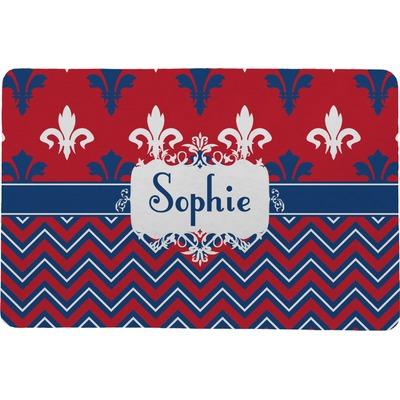 Patriotic Fleur de Lis Comfort Mat (Personalized)