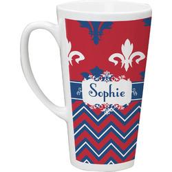 Patriotic Fleur de Lis Latte Mug (Personalized)