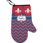 Patriotic Fleur de Lis Right Oven Mitt (Personalized)
