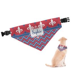 Patriotic Fleur de Lis Dog Bandana (Personalized)