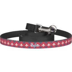 Patriotic Fleur de Lis Dog Leash (Personalized)