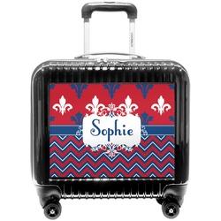 Patriotic Fleur de Lis Pilot / Flight Suitcase (Personalized)