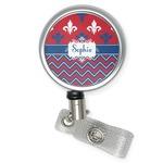 Patriotic Fleur de Lis Retractable Badge Reel (Personalized)
