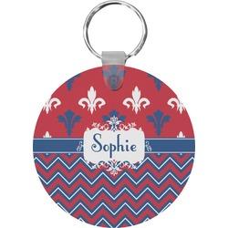 Patriotic Fleur de Lis Keychains - FRP (Personalized)