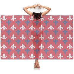 Patriotic Fleur de Lis Sheer Sarong (Personalized)