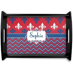 Patriotic Fleur de Lis Wooden Trays (Personalized)