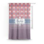 Patriotic Fleur de Lis Sheer Curtains (Personalized)
