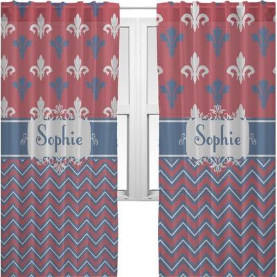 Patriotic Fleur De Lis Sheer Curtains Personalized