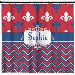 Patriotic Fleur de Lis Shower Curtain (Personalized)