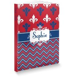 Patriotic Fleur de Lis Softbound Notebook (Personalized)