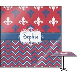 Patriotic Fleur de Lis Square Table Top (Personalized)