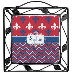Patriotic Fleur de Lis Trivet (Personalized)