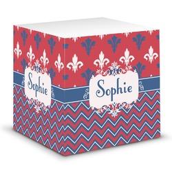 Patriotic Fleur de Lis Sticky Note Cube (Personalized)