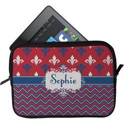 Patriotic Fleur de Lis Tablet Case / Sleeve (Personalized)