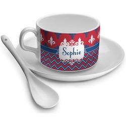 Patriotic Fleur de Lis Tea Cup - Single (Personalized)