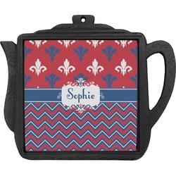 Patriotic Fleur de Lis Teapot Trivet (Personalized)