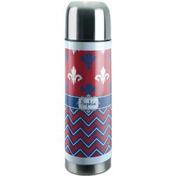 Patriotic Fleur de Lis Stainless Steel Thermos (Personalized)