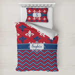 Patriotic Fleur de Lis Toddler Bedding w/ Name or Text