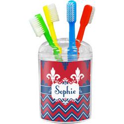 Patriotic Fleur de Lis Toothbrush Holder (Personalized)