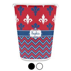Patriotic Fleur de Lis Waste Basket (Personalized)