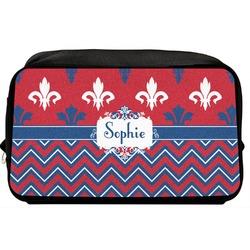 Patriotic Fleur de Lis Toiletry Bag / Dopp Kit (Personalized)