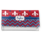 Patriotic Fleur de Lis Vinyl Checkbook Cover (Personalized)