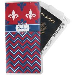 Patriotic Fleur de Lis Travel Document Holder