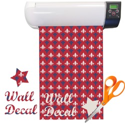 Patriotic Fleur de Lis Vinyl Sheet (Re-position-able)