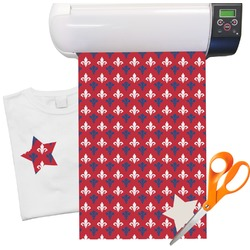 "Patriotic Fleur de Lis Heat Transfer Vinyl Sheet (12""x18"")"