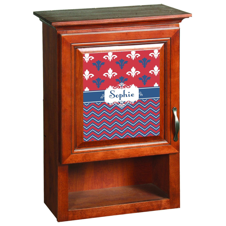patriotic fleur de lis cabinet decal large personalized youcustomizeit. Black Bedroom Furniture Sets. Home Design Ideas