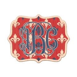 Patriotic Fleur de Lis Genuine Wood Sticker (Personalized)