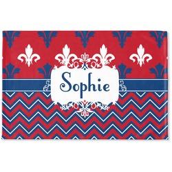 Patriotic Fleur de Lis Woven Mat (Personalized)
