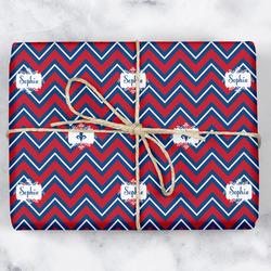 Patriotic Fleur de Lis Wrapping Paper (Personalized)