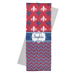 Patriotic Fleur de Lis Yoga Mat Towel (Personalized)