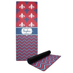 Patriotic Fleur de Lis Yoga Mat (Personalized)