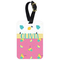 Summer Lemonade Aluminum Luggage Tag (Personalized)