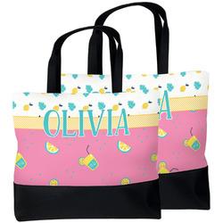 Summer Lemonade Beach Tote Bag (Personalized)
