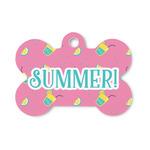Summer Lemonade Bone Shaped Dog Tag (Personalized)
